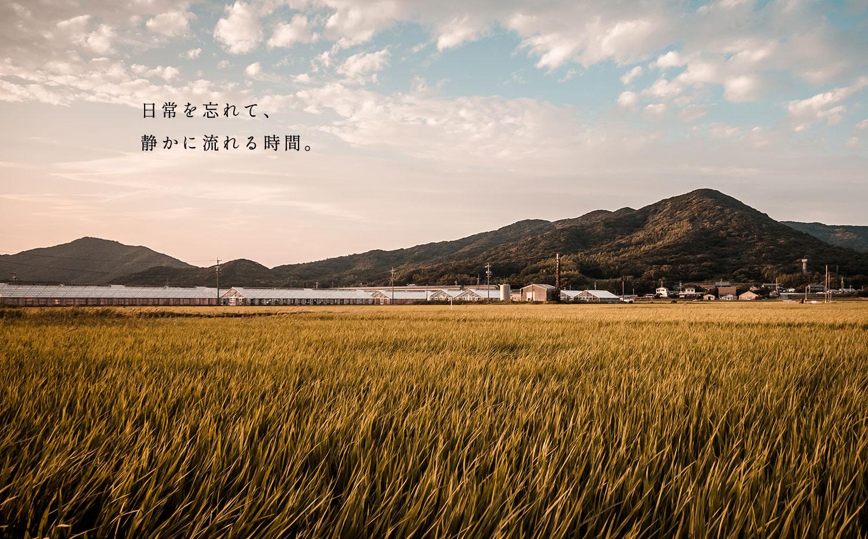 日常を忘れて、静かに流れる時間。